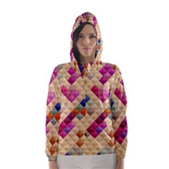 Mosaic & Co 01a  Hooded Wind Breaker (Women)