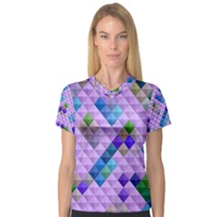 Mosaic & Co 01b Women s V Neck Sport Mesh Tee