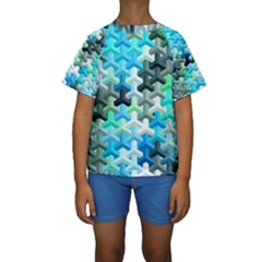 Mosaic & Co 02a Kid s Short Sleeve Swimwear
