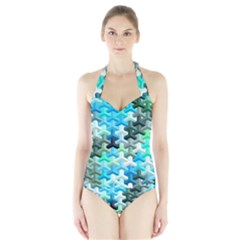 Mosaic & Co 02a Women s Halter One Piece Swimsuit