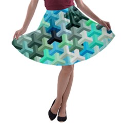 Mosaic & Co 02a A-line Skater Skirt