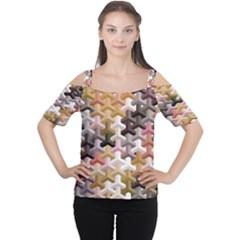 Mosaic & Co 02b Women s Cutout Shoulder Tee