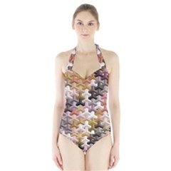 Mosaic & Co 02b Women s Halter One Piece Swimsuit