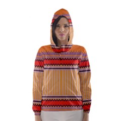 Stripes and chevrons Hooded Wind Breaker (Women)
