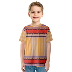 Stripes and chevrons Kid s Sport Mesh Tee