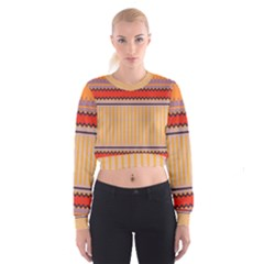 Stripes and chevrons   Women s Cropped Sweatshirt