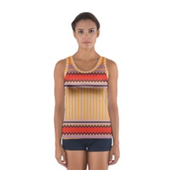 Stripes and chevrons Women s Sport Tank Top