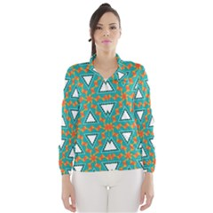 Triangles and other shapes pattern Wind Breaker (Women)