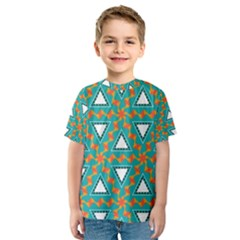 Triangles and other shapes pattern Kid s Sport Mesh Tee