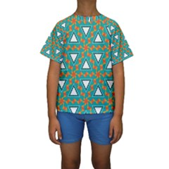 Triangles And Other Shapes Pattern  Kid s Short Sleeve Swimwear