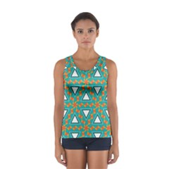 Triangles and other shapes pattern Women s Sport Tank Top