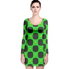 Black holes Long Sleeve Velvet Bodycon Dress