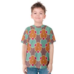 Stars and honeycombs pattern Kid s Cotton Tee