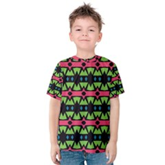 Shapes on a black background pattern Kid s Cotton Tee