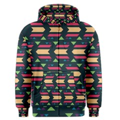 Triangles And Other Shapes Men s Zipper Hoodie