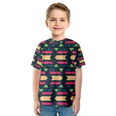 Triangles and other shapes Kid s Sport Mesh Tee