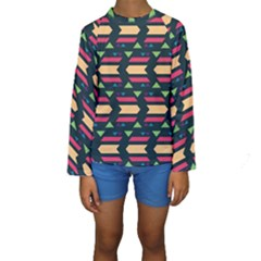 Triangles And Other Shapes  Kid s Long Sleeve Swimwear