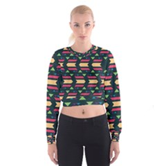 Triangles and other shapes   Women s Cropped Sweatshirt