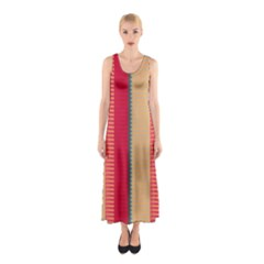 Stripes and other shapes Full Print Maxi Dress