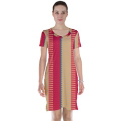 Stripes And Other Shapes Short Sleeve Nightdress