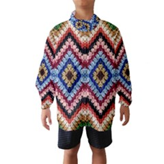 Colorful Diamond Crochet Wind Breaker (kids)