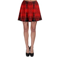Red Black Gothic Pattern Skater Skirts