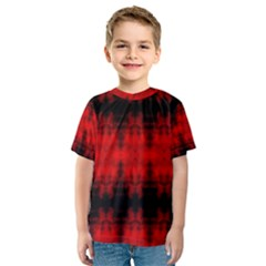 Red Black Gothic Pattern Kid s Sport Mesh Tees