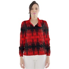 Red Black Gothic Pattern Wind Breaker (women)