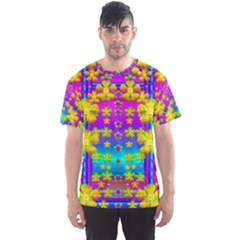 Outside The Curtain It Is Peace Florals And Love Men s Sport Mesh Tee