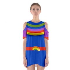 Rainbow Women s Cutout Shoulder Dress