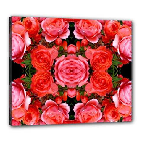 Beautiful Red Roses Canvas 24  X 20
