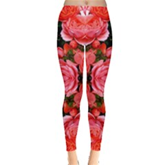 Beautiful Red Roses Women s Leggings