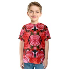 Beautiful Red Roses Kid s Sport Mesh Tees