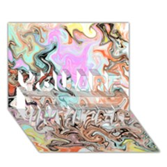 Distortedbeauty You Are Invited 3d Greeting Card (7x5)