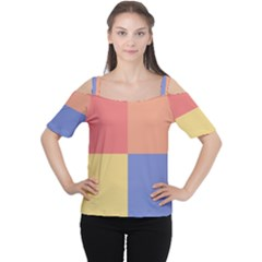 4 squares Women s Cutout Shoulder Tee