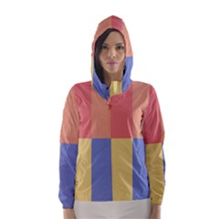 4 squares Hooded Wind Breaker (Women)