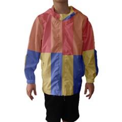 4 squares Hooded Wind Breaker (Kids)