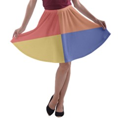 4 Squares A Line Skater Skirt