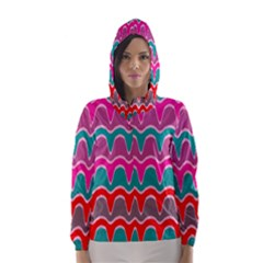 Waves pattern Hooded Wind Breaker (Women)