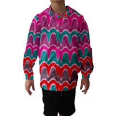Waves Pattern Hooded Wind Breaker (kids)
