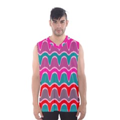 Waves pattern Men s Basketball Tank Top