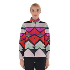 Shapes In Retro Colors Winter Jacket