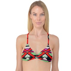 Shapes In Retro Colors Reversible Tri Bikini Top