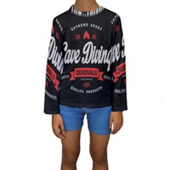 Cave Diving Extreme Sport Kid s Long Sleeve Swimwear