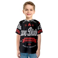 Cave Diving Extreme Sport Kid s Sport Mesh Tees