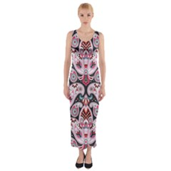 tribal5 Fitted Maxi Dress