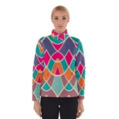 Wavy Design Winter Jacket