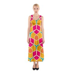 Shapes in retro colors pattern Full Print Maxi Dress