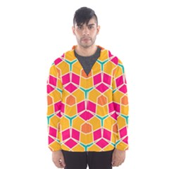 Shapes in retro colors pattern Mesh Lined Wind Breaker (Men)