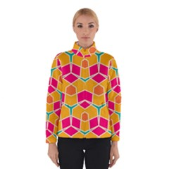 Shapes In Retro Colors Pattern Winter Jacket
